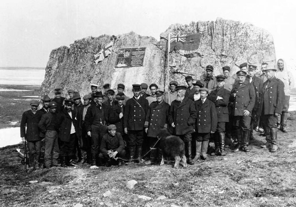 7-8-bernier-and-team-at-winter-harbour-melville-island-1-july-1909-lac-3652544-copy